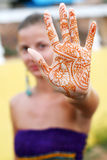 tatuaż kobieta Fotografia Stock