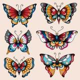 Tatuażowi motyle Fotografia Royalty Free