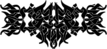 tatuaż plemienny Ilustracji