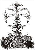 tatuaż plemienny Zdjęcia Royalty Free