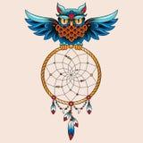 Tatuaż sowa Fotografia Royalty Free