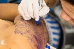 Tatuażu artysty rysunek Obraz Stock