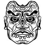 Tatuażu projekt plemienna maskowa ilustracja Obrazy Stock