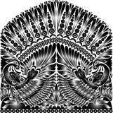 Tatuażu rosyjski ornament folkloru ornamentu witki ptak Obraz Stock