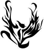 Tatuagem abstrata do pássaro ilustração do vetor