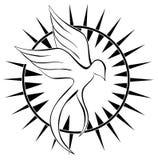 Tatuagem abstrata do pássaro no preto ilustração do vetor