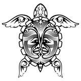 Tatuagem animal da tartaruga do totem tribal Fotografia de Stock Royalty Free