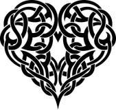 Tatuagem celta do coração Imagem de Stock