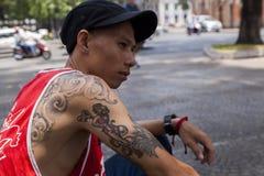 Tatuagem como uma forma Foto de Stock