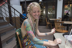 Tatuagem como uma forma Imagens de Stock Royalty Free