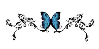 Tatuagem da borboleta Fotografia de Stock Royalty Free