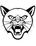 Tatuagem da cabeça da pantera Imagens de Stock Royalty Free