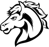 Tatuagem da cabeça de cavalo Imagens de Stock Royalty Free