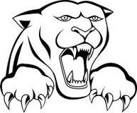 Tatuagem da cabeça do tigre Foto de Stock