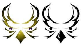 Tatuagem da cabeça da coruja Imagens de Stock Royalty Free