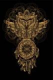 Tatuagem da coruja do vetor Imagens de Stock
