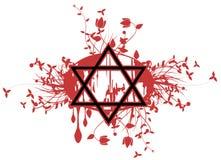 Tatuagem da estrela de David no preto Imagens de Stock