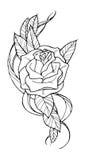 Tatuagem de Rosa Foto de Stock
