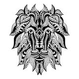 Tatuagem decorativa Lion Head Imagem de Stock Royalty Free