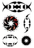 Tatuagem decorativo bonito ajustado 2 Ilustração do Vetor