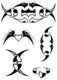 Tatuagem decorativo bonito ajustado 3 Ilustração Stock