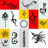 Tatuagem desenhado à mão com sombra Imagem de Stock Royalty Free