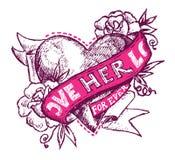Tatuagem do amor ilustração royalty free