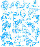 Tatuagem do golfinho Imagem de Stock Royalty Free