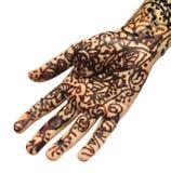 Tatuagem do Henna na mão imagem de stock royalty free