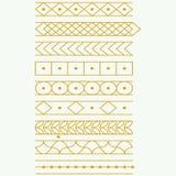 Tatuagem do ouro, etiqueta, beiras, vetor Foto de Stock