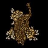 Tatuagem do pavão do vetor Imagem de Stock Royalty Free