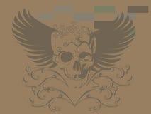 Tatuagem do teste padrão do crânio da arte Imagens de Stock Royalty Free