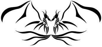 tatuagem Dois-dirigida do dragão Imagens de Stock Royalty Free