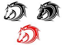 Tatuagem dos cavalos Fotos de Stock Royalty Free