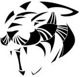 Tatuagem estilizado da pantera no preto isolada Foto de Stock