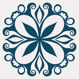 Tatuagem floral abstrato ilustração stock