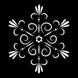 Tatuagem isolada sumário do floco de neve ou da flor do vetor Foto de Stock
