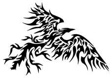 Tatuagem phoenix tribal Fotos de Stock