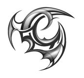 Tatuagem tribal da arte Imagens de Stock Royalty Free