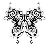 Tatuagem tribal da borboleta do estilo Imagem de Stock Royalty Free