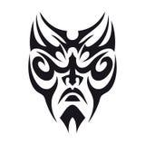 Tatuagem tribal da face Fotografia de Stock