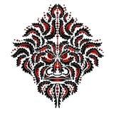 Tatuagem tribal da face vermelha do espírito do demónio da besta ilustração stock