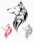 Tatuagem tribal do lobo ilustração stock
