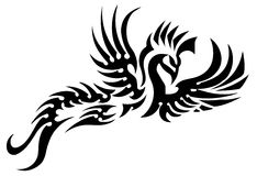 Tatuagem tribal do pássaro Fotos de Stock