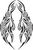 Tatuagem tribal ilustrada da máscara imagem de stock