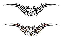 Tatuagem tribal isolado do tigre ilustração do vetor