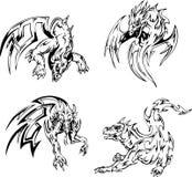 Tatuagens do dragão Imagem de Stock Royalty Free