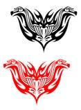 Tatuagens do motociclista Fotos de Stock