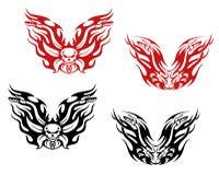 Tatuagens dos motociclistas e das bicicletas Foto de Stock