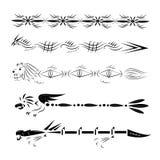 Tatuagens para os pés e as mãos. ilustração royalty free